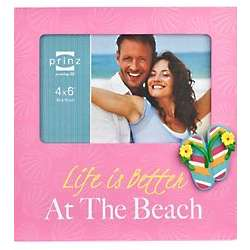 At The Beach Pink 4x6 Frame