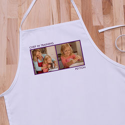 Picture Perfect Two Photo Kid's Personalized Apron