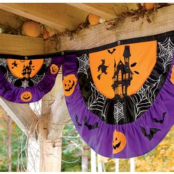 Large Appliqued Polyester Halloween Bunting