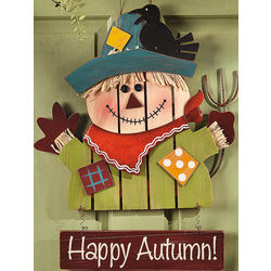 Happy Autumn Scarecrow Sign