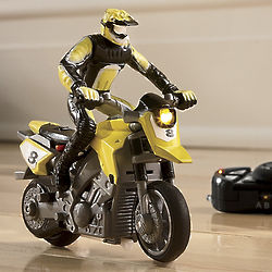 RC Stunt Motorcycle with LED Headlight