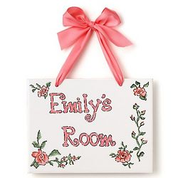 Personalized Roses Name Plaque