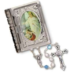 Rosary with Guardian Angel Picture Box