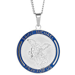 Engravable St Michael Pendant