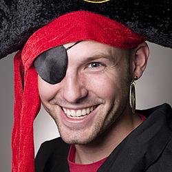 Pirate Earring & Eye Patch