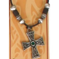 Beaded Celtic Cross Pendant