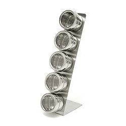 6-Piece Stainless Steel Spice Rack Set
