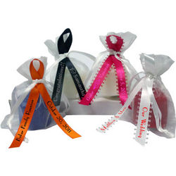 Votive Candle & Personalized Favor Ribbon Combo Kit