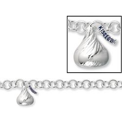 Medium Hersheys Kiss 3-D Charm Bracelet with Toggle Clasp