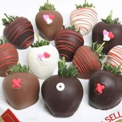 Valentine's Day XOX Chocolate Covered Strawberries