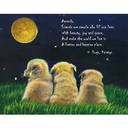 Dogs Under the Moon Personalized Print