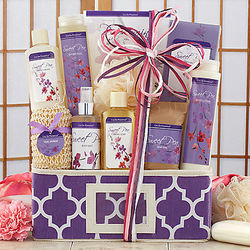 Sweet Pea Spa Assortment Gift Basket