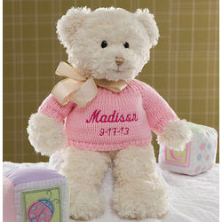 Personalized Baby Girl Teddy Bear