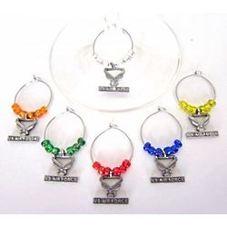 Air Force Wine Glass Charms