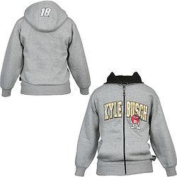 Kyle Busch #18 Youth Big Number Hoodie