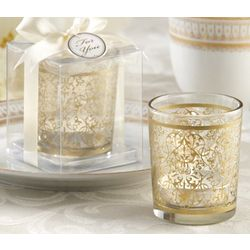 Golden Renaissance Tea Candles and Tealight Holders