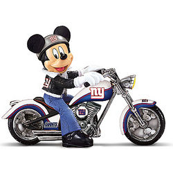 New York Giants Headed For Victory Mickey Mouse Figurine
