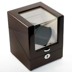 Contemporary Single Rotor Dual Watch Winder
