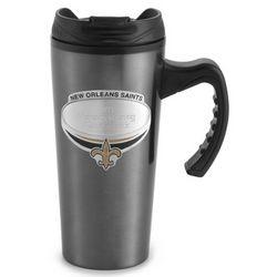 New Orleans Saints Gunmetal Travel Mug