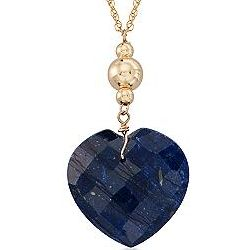 14K Gold Sapphire Heart Necklace