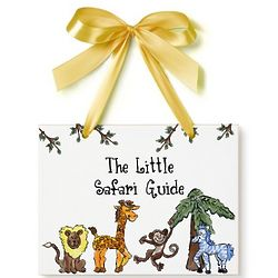 Personalized Safari Name Plaque