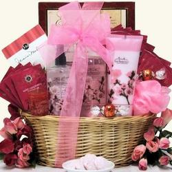 Cherry Blossom Spa Retreat Gift Basket