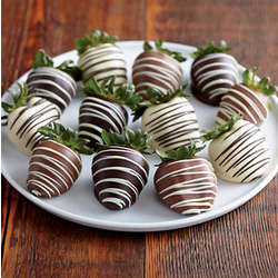 Double Hand-Dipped Chocolate Strawberries