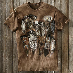 Animals on Feathers T-Shirt