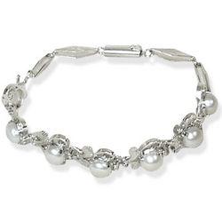 Misty Pearl Flower Bracelet