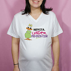 Under Producktion Personalized Maternity Nightshirt