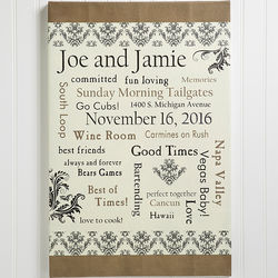 Personalized Life Together Wedding Canvas Art