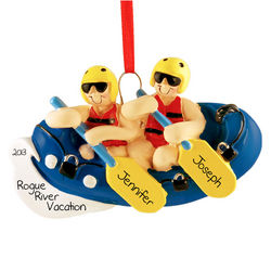 Rafting Couple Personalized Ornament