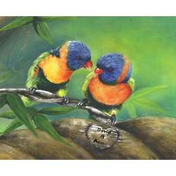 Personalized Love Birds Print
