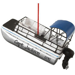 Personalized Pontoon Boat Ornament