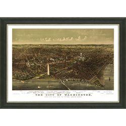 Framed Map of Vintage Washington DC