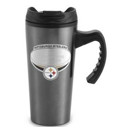 Pittsburgh Steelers Gunmetal Travel Mug