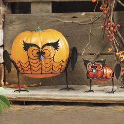 Halloween Owl Pumpkin Holders