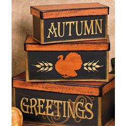 Autumn Greetings Stacking Boxes