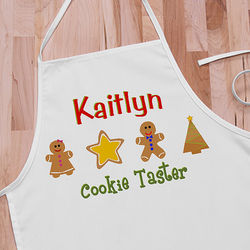 Lil' Christmas Baker Personalized Kid's Apron