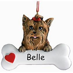 Personalized Yorkie Ornament