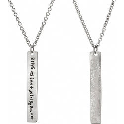 Personalized Love Equation Necklace