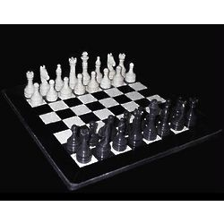 Hand Carved Black & Tan Marble Chess Set