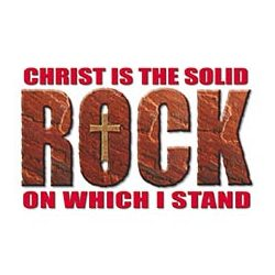Christ Is The Solid Rock Adult T-Shirt