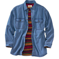 Fleece Lined Flannel Shirt Mens