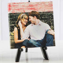 Sweet Couple Mini Photo Canvas Print