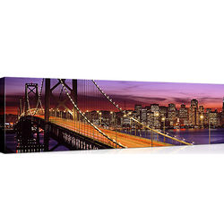 Bay Bridge, San Francisco Skyline on Canvas