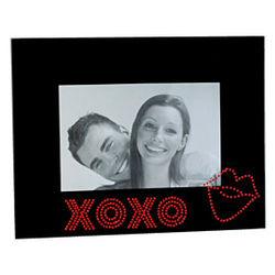 Rhinestone Jewel XOXO Glass Picture Frame