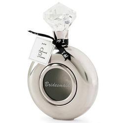 Diamond Ring Silver Bridesmaid Flask