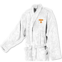 University of Tennessee Men's Ultra Plush White Bathrobe