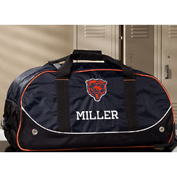 Personalized Chicago Bears Rolling Duffel Bag